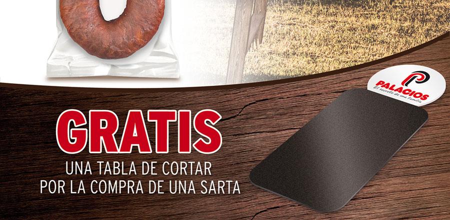 Te regalamos una tabla de cortar por la compra de Chorizo Ahumado Palacios