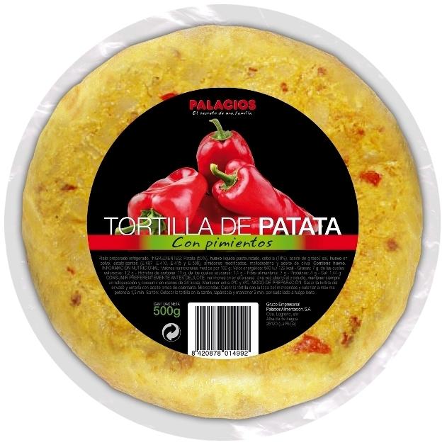 Tortilla de Patata con Pimientos Palacios