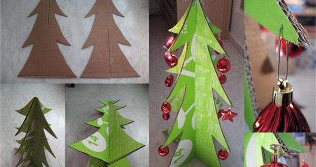 C mo hacer un rbol de navidad de cart n palacios for Arbol de navidad con cajas de carton