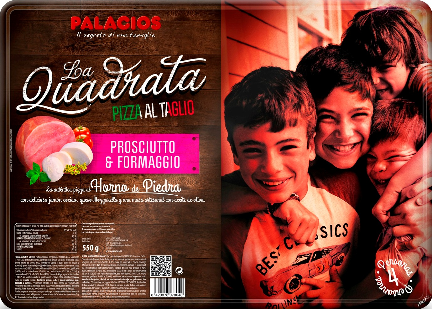 Pizza Quadrata Palacios en Horno de Piedra
